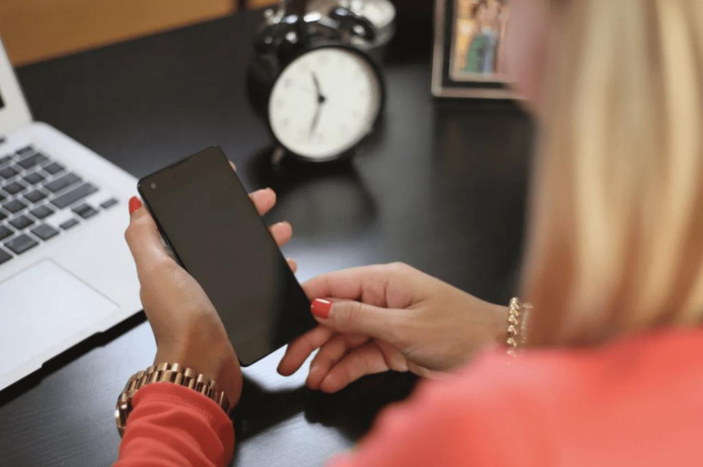 stock photo women on phone