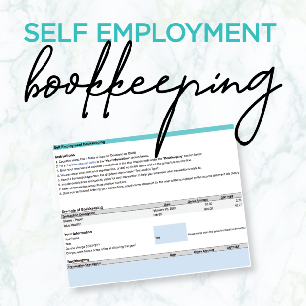 self employment bookkeeping